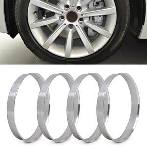 DWCX 4pcs Aluminum Hub Rings | 72.6mm Hub to 74.1mm Wheel Bore | ID 72.56 | OD 74 For BMW 1 3 4 5 7 Series X1, X3, X4, X5, X6(China)