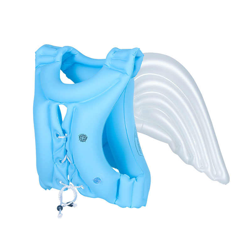 e8796a02fea ... 2018 Newest Angel Design Children's Swimsuits Girls And Boys Inflatable  Life Jackets Kids Swimming Equipment Floating