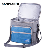 Samplaner 12L Insulated Lunch Bags For Women Men Cooler Tote Food Bag Adult Lunch Box Mesh