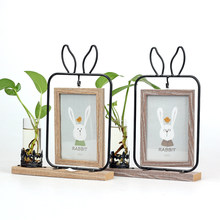 Creative Mirror Photo Frame Set Table Desktop Hydroponics 6 inch Photo Decoration Double-sided Photo Frame Crafts Birthday Gifts(China)