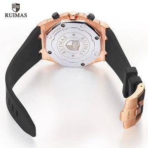 Image 5 - RUIMAS 24 Hours Quartz Watches Men Luxury Sports Army Chronograph Wristwatch Top Brand Relogios Masculino Clock Watch R540 Rose