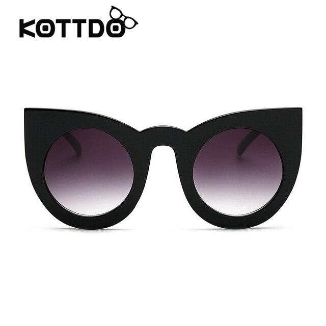 5c80e5d90fbc2 Mais recente Moda Mulheres Rodada Do Olho de Gato Óculos de Sol de Alta  Qualidade Óculos