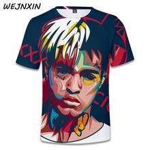 WEJNXIN verano nueva llegada 3D impresión camiseta Xxxtentacion Rapper  traje Hip Hop Streetwear Tops Tees Camisetas Hombre 32618f2695d