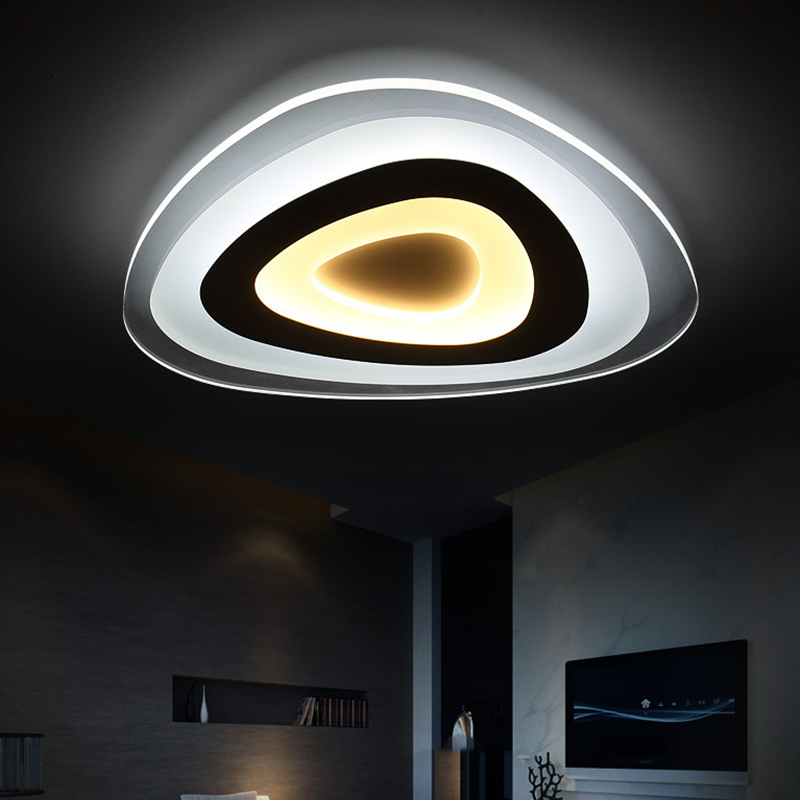 Ceiling Lights LED Modern Living Room Bedroom Lighting Acrylic Lampshade Light Luces Del