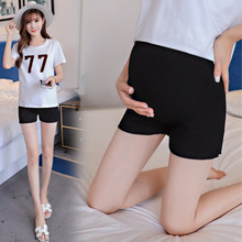 Maternity high waist stomach lift pants summer cotton Pregnancy safety three increase shorts leggings