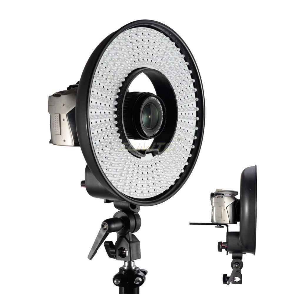Falcon Eyes DVR-300DVC LED lumière annulaire 5500k couleur température photographie Led vidéo lumière annulaire avec support de caméra