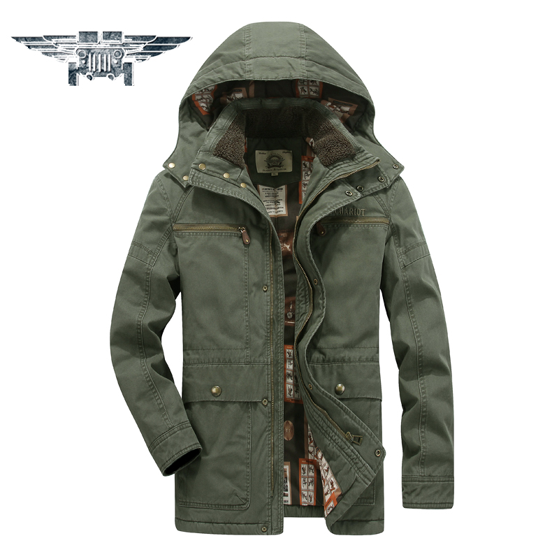 2016 New Winter Thickening Warm Cotton Coat Men Hooded Solid Color Military Jacket Casual Jacket Men # JPZC6699