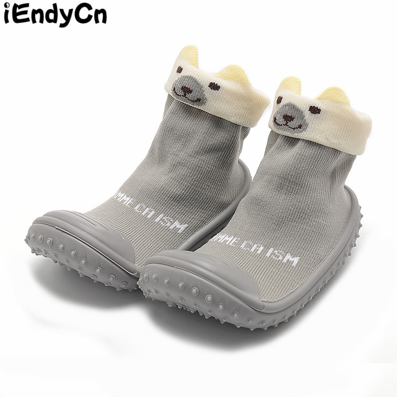 Baby Socks With Rubber Soles Anti Slip First Walker Solid Baby Socks Infant Socks Shallow Toddler Cotton HJS7050