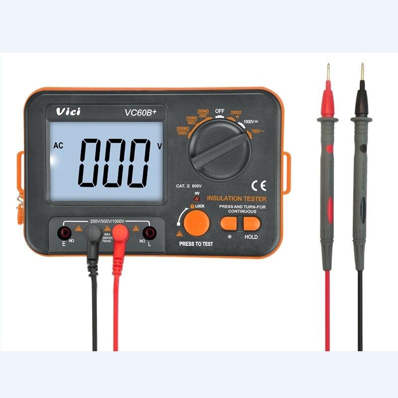 Alarm Digital Circuit Insulation And Input MegOhm High Megger  VC60B Short Voltage 1000V Meter Tester Resistance 500V 250V VICI
