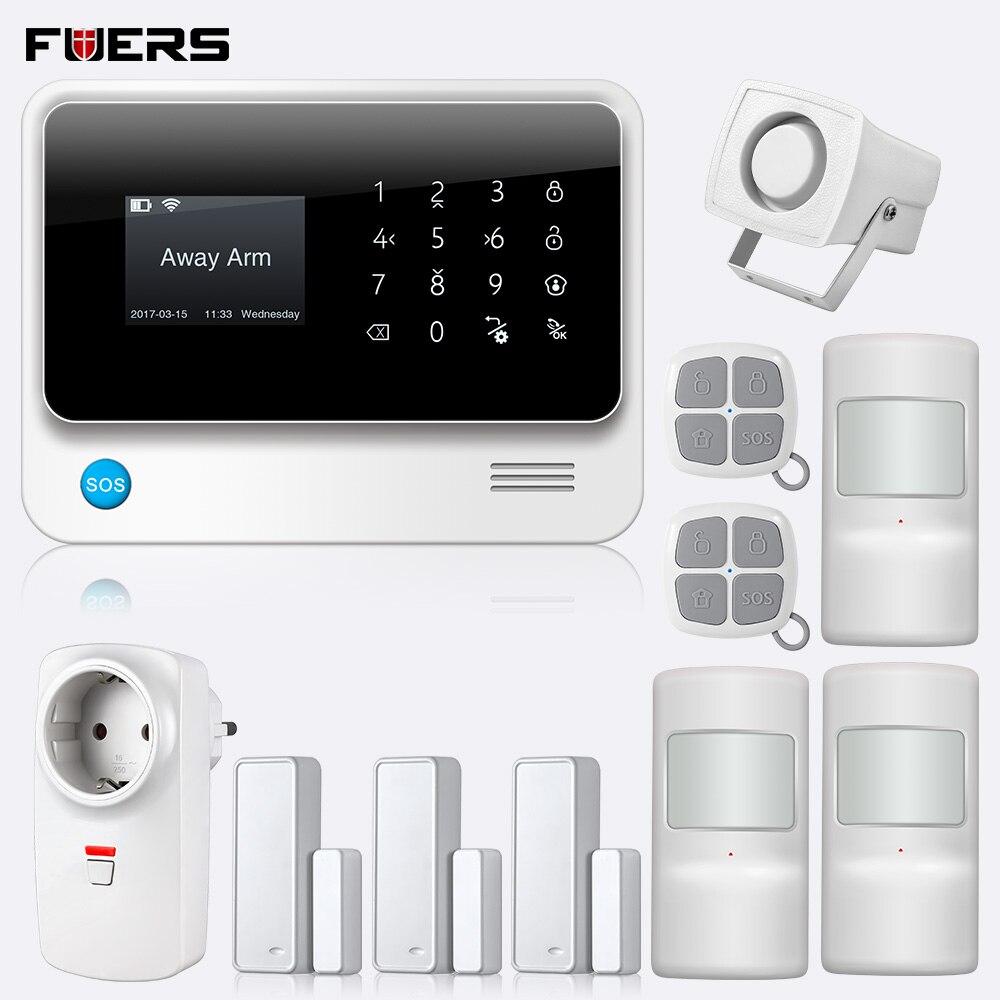 2019 g90b plus 2.4g gsm sistema de alarme app controle remoto inteligente tomada segurança em casa gsm gprs sms wi fi sistemas de alarme