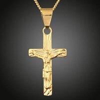 نمط جديد جديدة يسوع الصليب قلادة الرجال الأزياء قلادة يسوع المسيح قطعة الديانة المسيحية المجوهرات قلادة شحن مجاني