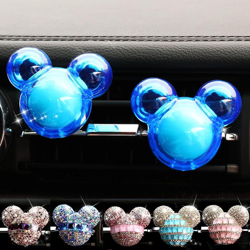 Автомобиль-Стайлинг Bling автомобиля Освежители воздуха Кристалл автомобилей парфюмерия 100 оригинальный Для женщин Parfum Кондиционер Vent ароматизатор в автомобиле