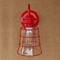 Lâmpada de Parede LEVOU Estilo Loft Industiral Luz Luminárias Sala de Café Edison Retro Vintage Arandela Arandela Apliques Pared Lampen