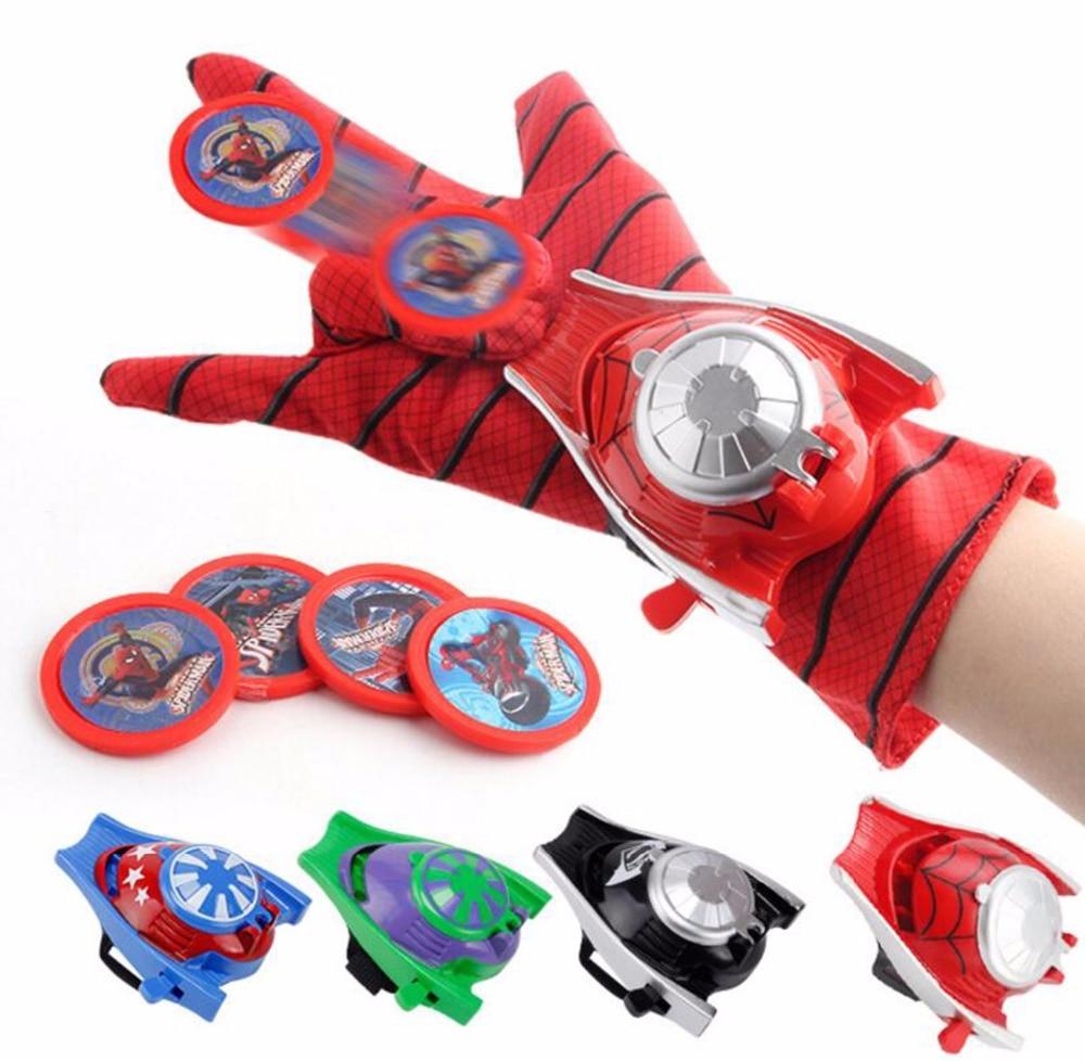Captain America Spider Man Launcher Toys Iron Man Hulk Batman Glove Launcher For Kids Boys New Year Gift Cosplay Toys Spiderman