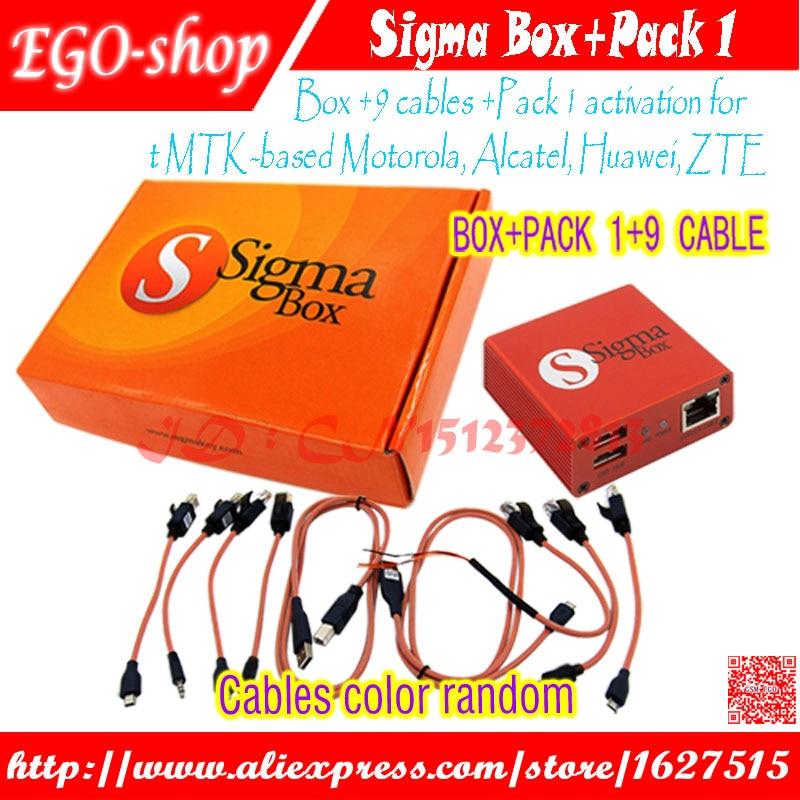 Gsmjustoncct sigma boîtier avec 9 câbles avec Pack 1 activation pour t MTK basé Motorola Alcatel Huawei ZTE et pour Lenovo
