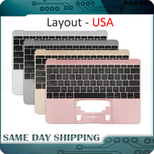 Gold/Gray Grey/Silver/Rose Gold Color for Macbook 12 A1534 US English USA Topcase Palm Rest w/ Keyboard 2015 2016 2017