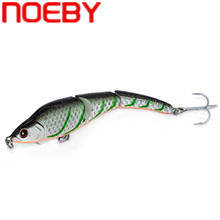 Купить с кэшбэком NOEBY NBL9148 Fishing Lure Hard Bait Wobbler 95mm 11g Sinking 0.5-1.5m Swim Bait Jointed Bait with Treble Hook Leurre De Peche