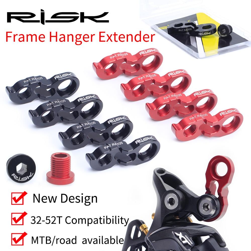 RISK Rear Derailleur Hanger Extender Kit Bike Tail Hook Extension Aluminum Cycling Derailleur Adapter Bicycle Parts 40T 42T 46T