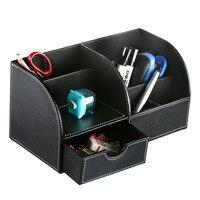 Desk Stationery Organizer Storage Box Plate Desk Storage Boxes Case Pen Pencil Box Holder Case Wooden