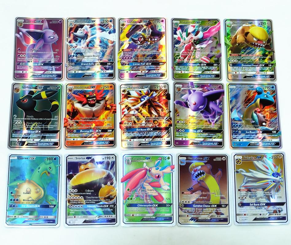 200 Pcs Gx Mega Shining Cards Game Battle Carte Trading Cards Game Children Gift Toy