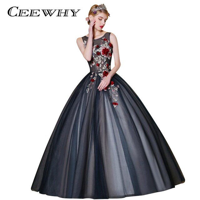 Online Shop CEEWHY Vintage Tulle Embroidery Beaded Dress ...