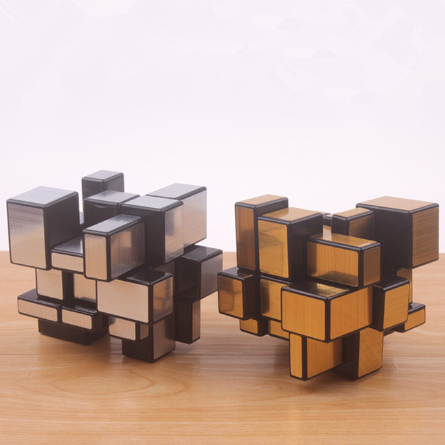 Original magic speed  mirror cube sticker block Puzzle Cast Coated Cube professional learning education toys for children 4