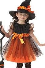EK069 al por mayor Europa y Estados Unidos bruja cosplay anime ropa de  danza traje de Halloween de los niños 9a314c1c63f