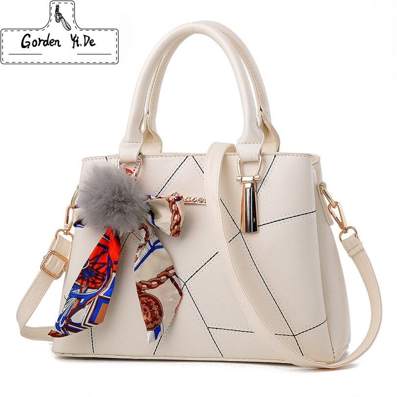 Золотая Yi de Для женщин сумка Оригинальный Женский Портфели сумки OL сумка PU Курьерские сумки Повседневное Сумки через плечо сумка