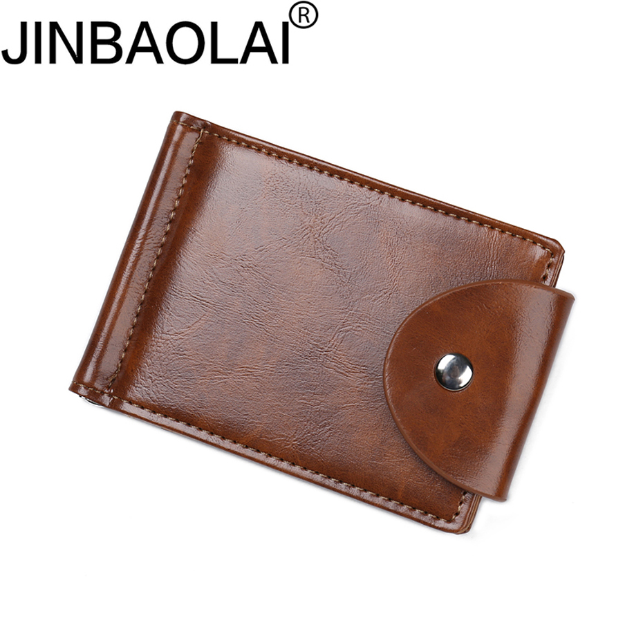 Slim Business Card Holder Men Wallet Male Purse Cuzdan Clamp For Money Short Vallet Small Walet Thin Perse Carteras Portomonee