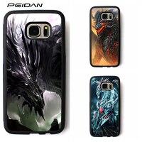 PEIDAN Black Ice Dragon cover phone case for samsung galaxy S3 S4 S5 S6 S7 S8 S6 edge S7 edge Note 3 Note 4 Note 5 #ww49