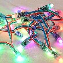 50 шт./лот 5 V 12 мм WS2801 полный Цвет пиксель rgb светодиодный модуль IP68 струнные лампы