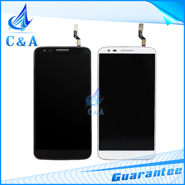 replacement parts for LG Optimus G2 lcd D802 D805 screen display with touch digitizer with frame assembly 1 piece free shipping