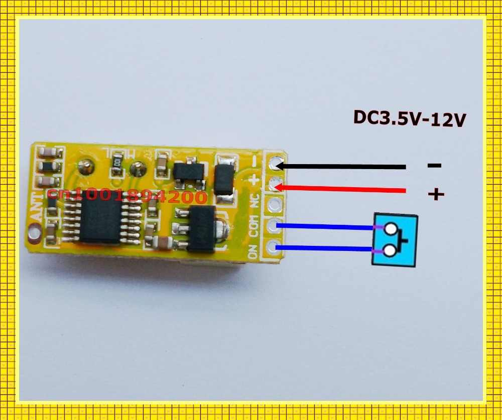Mała objętość przekaźnik bezprzewodowy przełącznik DC 3.7 V 4.5 V 5 V 6 V 7.4 V 9 V 12 V mikro baterii dostaw odbiornik RF nadajnik nie COM NC pilot zdalnego