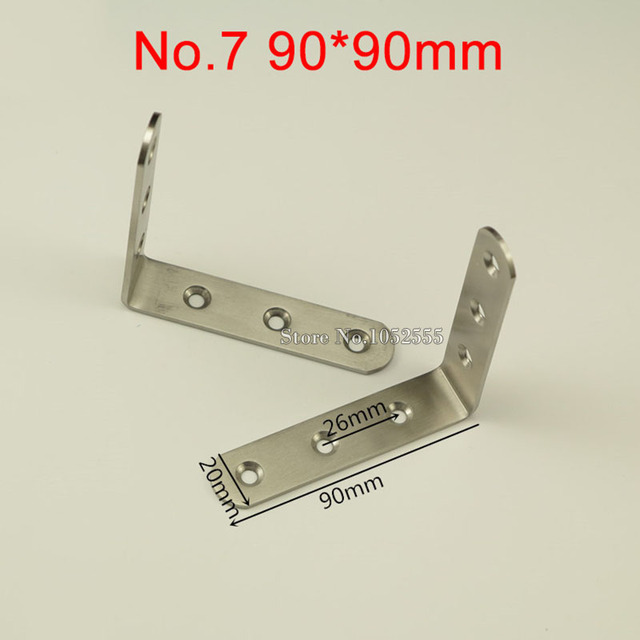 HOT 500PCS Stainless Steel Corner Brackets 90*90mm Right Angle ...