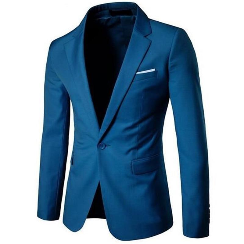 2017 New Fashion Mens Blazer Casual Suits Slim Fit Suit Jacket Men Veste Homme Costume Cotton Masculin Blazer Jacket Plus Size