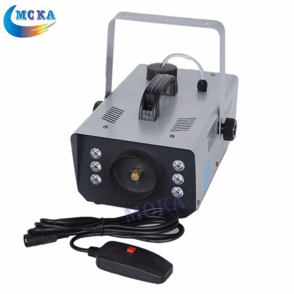 Power Led Fog Machine 900w Led Smoke Generator DJ Equipment Fog Smoke Machine freeshipping sample 900w led smoke machine 30pcs 10mm bule leds smoke coverage 1000ft cu min fog oil tank capacity 1 5l remote