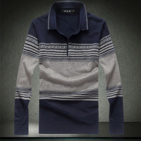 Oversized 8XL Mens Pullovers Full Sleeve Turndown Collar POLO Smart Casual Patchwork Male Sweaters Largest Size 4XL 5XL 6XL 7XL