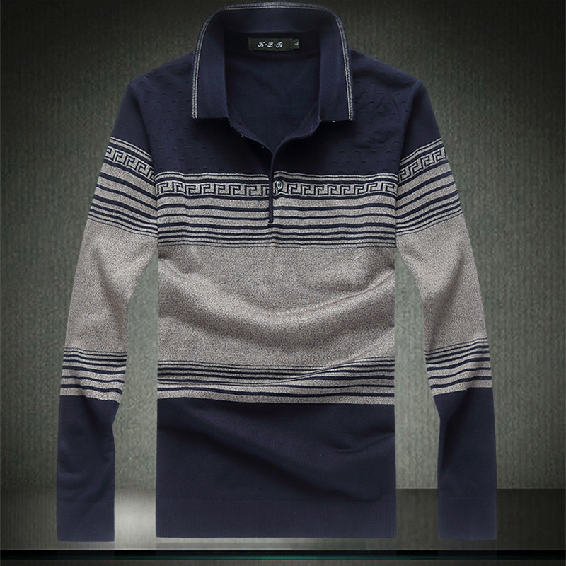 Oversized Mens Pullovers Full Sleeve Turndown Collar POLO Smart Casual Patchwork Male Sweaters Plus Size 4XL 5XL 6XL 7XL 8XL