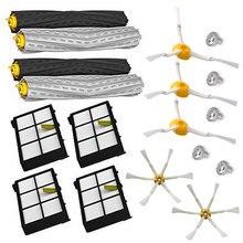 18 pçs detritos extrator escova + filtro hepa kit escova lateral para irobot roomba 800 870 880 980 aspirador de pó acessórios peças