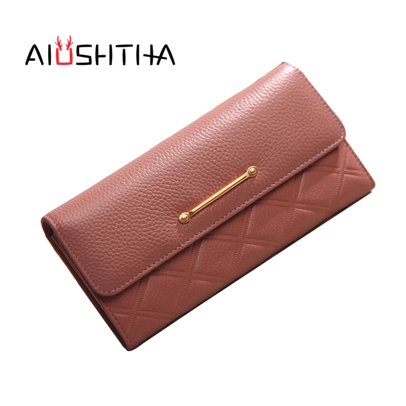 women wallets genuine leather long wallet phone bag case clutch female coin purse ladies cartrira feminina portefeuille femme women genuine leather character embossed day clutches wristlet long wallets chains hand bag female shoulder clutch crossbody bag