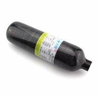 PCP Пейнтбол Airsoft ВВС 1.1L углеродного волокна Танк гПа черный 300Bar M18x1.5 нити высокой Давление цилиндр 30MPA 4500PSI