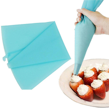 Cheap Safe Silicone Lcing Piping Cream Pastry Bag For Cake DIY Decorating Tool Free Shipping