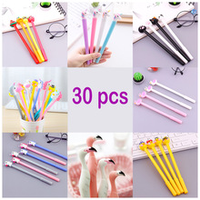 Jonvon Satone 30 Pcs Cute Gel Neutral Pen Stationery Black Ink Pen Wholesale Stationary Set School Supplies Tools Escolar Caneta