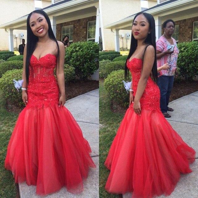 Long Red Formal Dresses for Juniors