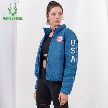 Winter Warm Sports Running Jackets Women's Zipper Long Sleeve Padded Coat Outdoor Workout Windproof Sportswear Tops