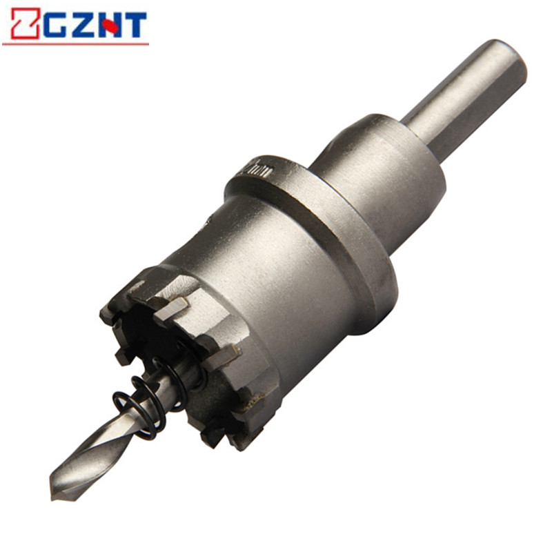 1pc Core Drill Bit Hole Saw Metal Drilling Brocas Hard Alloy Straight Shank Drill Bits 16-35mm For Metal Cutting Power Tools new 50mm concrete cement wall hole saw set with drill bit 200mm rod wrench for power tool