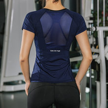 Vrouwen Zomer T Shirts Slim Fit Voor Sport Fitness Yoga Korte Mouwen Yoga Top Mesh Womens Gym Shirt Sport Wear(China)
