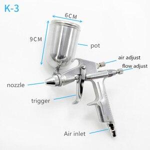 Image 2 - Pulvérisateur à Air, outil de peinture pour aérographe, outil de peinture, alimentation par gravité, meubles à percussion, 125ml