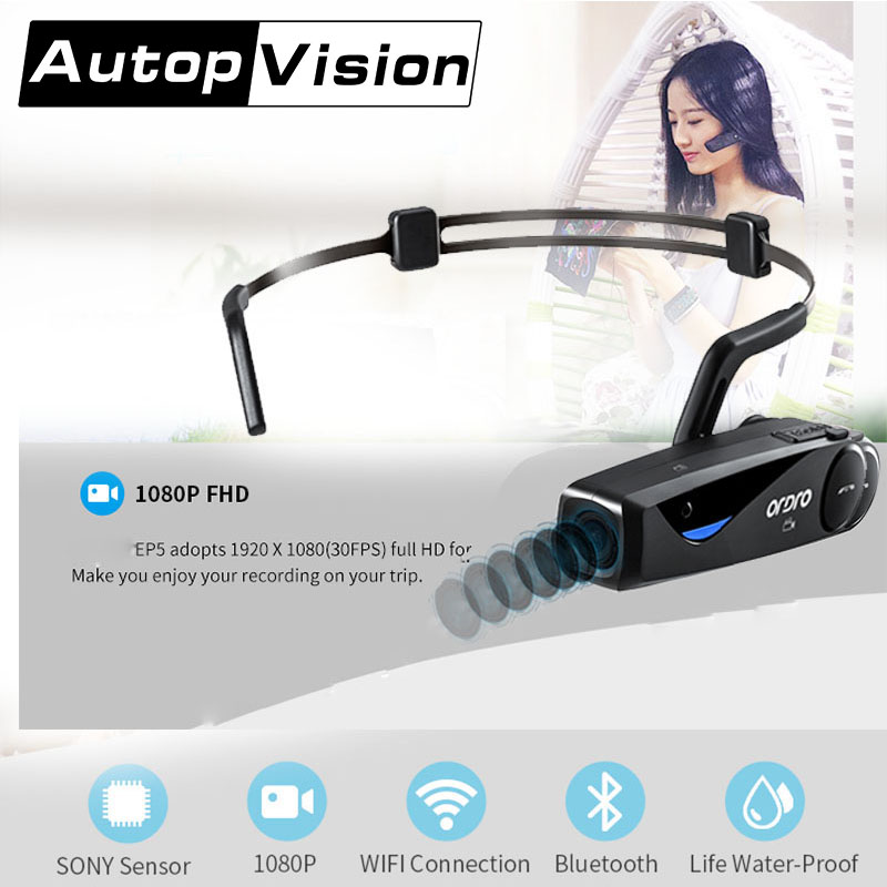 EP5 20PCS/lot Mini DV Headphone Sport camera Bluetooth Headset Video Recorder Run Ride video camera Listen to music