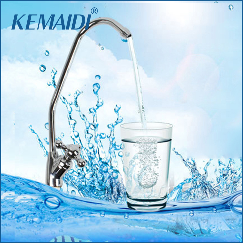 KEMAIDI New Reverse Osmosis Gooseneck Kitchen Sink Faucet Tap Chrome Plated Finished RO Water Filter Faucet